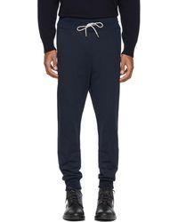 Moncler Gamme Bleu - Navy Chevron Logo Lounge Pants - Lyst