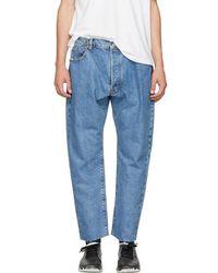 Sasquatchfabrix - Indigo Tapered Jeans - Lyst
