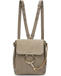 Chloé - Grey Small Faye Backpack - Lyst
