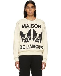 Gucci - Off-white Bosco And Orso Sweatshirt - Lyst