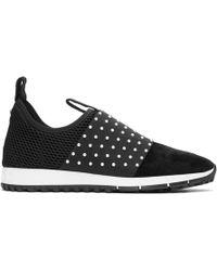 Jimmy Choo - Black Suede Oakland Sneakers - Lyst