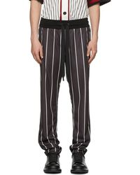 Dolce & Gabbana - Black And White Striped Loose-fit Trousers - Lyst