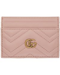 Gucci - Pink Gg Marmont 2.0 Card Holder - Lyst