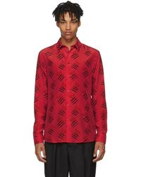 Givenchy - Red Scratch Olives Shirt - Lyst