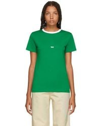 Helmut Lang - Green And White Tokyo Edition Taxi T-shirt - Lyst