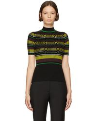 Opening Ceremony - Black Striped Knit T-shirt - Lyst