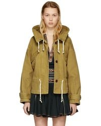 Étoile Isabel Marant - Brown Lagilly Short Cotton Trench Jacket - Lyst