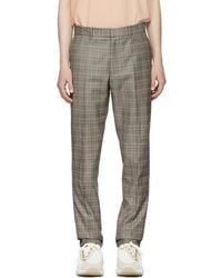Rag & Bone - Black And Ivory Check Patrick Trousers - Lyst