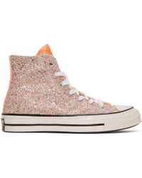 JW Anderson - Pink Converse Edition Glitter Chuck 70 High Trainers - Lyst