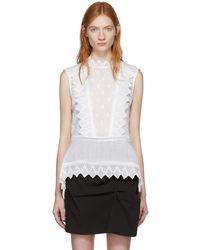Isabel Marant - White Nust Tank Top - Lyst