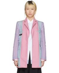 Comme des Garçons - Reversible Pink Over Coat - Lyst