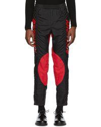 Givenchy - ブラック And レッド 2 トーン バイカー パンツ - Lyst