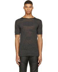CoSTUME NATIONAL - Black Alternating Knit T-shirt - Lyst