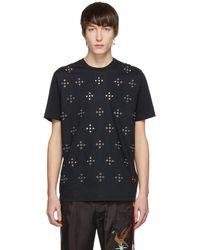 DIESEL - Black T-wynn Eyelets T-shirt - Lyst