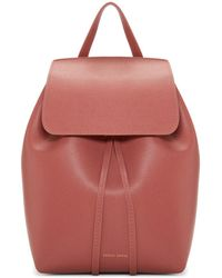 Mansur Gavriel - Pink Saffiano Mini Backpack - Lyst
