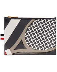 Thom Browne - Navy Large Tennis Pouch - Lyst