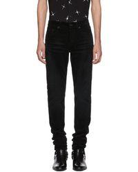 Saint Laurent - Black Skinny Cord Trousers - Lyst