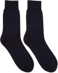 Alexander McQueen - Black And Navy Short Skull Socks - Lyst