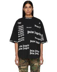 Palm Angels - Black Ultra Logo Over T-shirt - Lyst