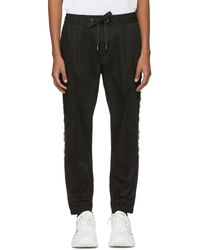 Dolce & Gabbana - Black Drawstring Trousers - Lyst