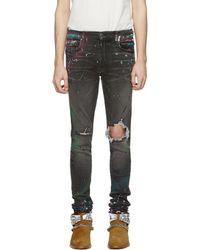 Amiri - Gray Graffiti Jeans - Lyst
