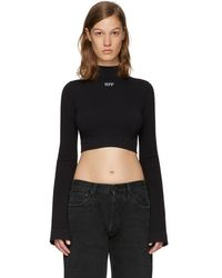 Off-White c o Virgil Abloh - Ssense Exclusive Black Cropped Turtleneck -  Lyst f13a974cd8
