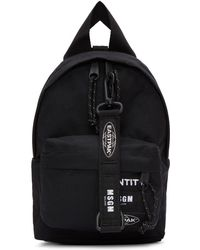 MSGM - Black Eastpak Edition Mini Identity Backpack - Lyst