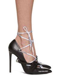 Off-White c/o Virgil Abloh - Black Laces Heels - Lyst