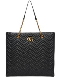 Gucci - Gg Marmont Leather Tote Bag - Lyst