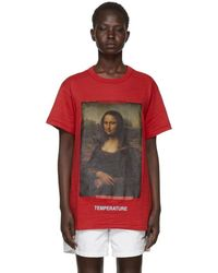 Off-White c/o Virgil Abloh - Red Diagonal Monalisa T-shirt - Lyst