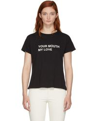Rag & Bone - Black Your Mouth My Love T-shirt - Lyst