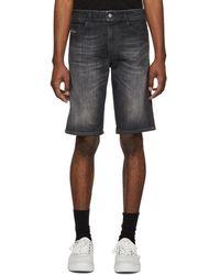DIESEL - Black Denim Thoshort Shorts - Lyst