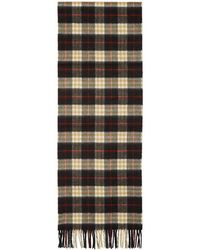 Burberry - Black Cashmere Vintage Icon Scarf - Lyst