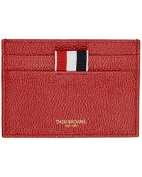 Thom Browne - Red Single Card Holder - Lyst