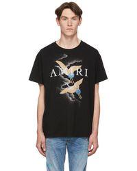Amiri Cranes Print Black T-shirt