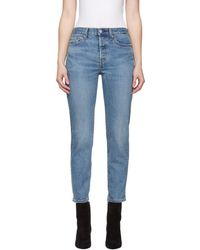 Levi's - Indigo Wedgie Icon Fit Jeans - Lyst