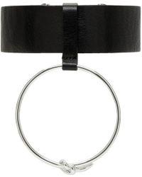 Ambush - Black Leather Ring Choker - Lyst