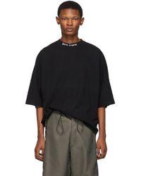 Palm Angels - T-shirt a logo noir - Lyst