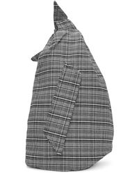 Raf Simons - Black And White Eastpak Edition Plaid Sling Backpack - Lyst