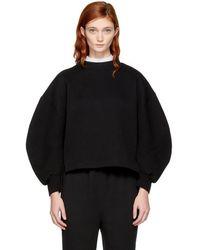 Enfold   Black Double Neck Sweatshirt   Lyst