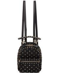 Valentino   Black Garavani Mini Quilted Rockstud Backpack   Lyst