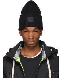 Acne Studios - Black Pansy N Face Beanie - Lyst