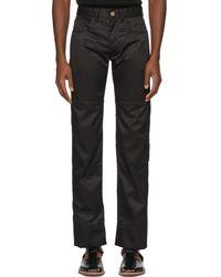Wales Bonner - Black Panelled Jeans - Lyst