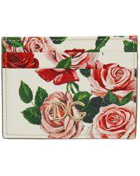 Dolce & Gabbana - White Flowers Card Holder - Lyst