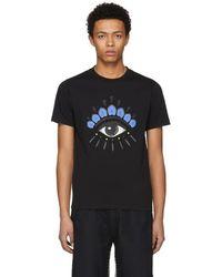 KENZO - Black Eye Logo T-shirt - Lyst