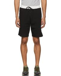Fendi - Black Logo Tape Shorts - Lyst