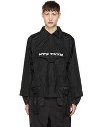 KTZ - Black Gathered Pocket Shirt - Lyst