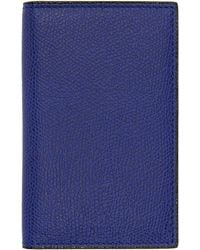 Valextra - Blue Business Card Holder - Lyst
