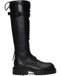 eae7d21f133f Ann Demeulemeester - Ssense Exclusive Black Lace-up Boots - Lyst