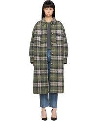 Étoile Isabel Marant Green Plaid Gabrion Coat